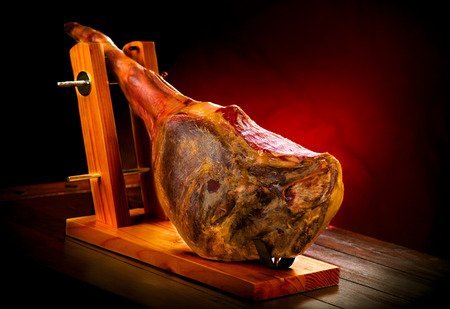Jamon serrano. Traditional spanish ham. Hamon iberico photo
