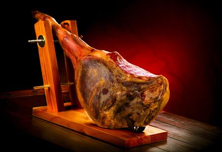 iberico: Jamon serrano. Traditional spanish ham. Hamon iberico