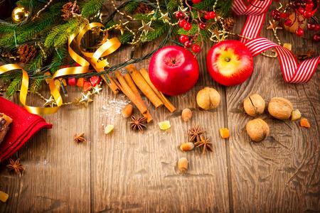 Weihnachten Urlaub gedeckten Tisch Grenze Design Standard-Bild - 34631272