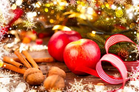 Christmas holiday decorations. Christmas card photo