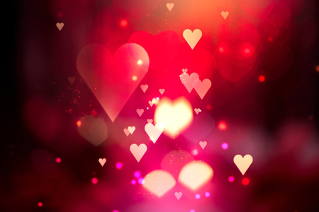 Valentine Hearts Abstract Background. St.Valentines Day photo