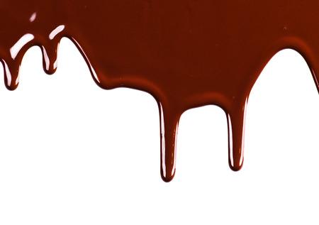 白い背景上に分離されて液体チョコレート ボーダー設計 写真素材