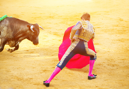 corrida: Traditional corrida - bullfighting in Spain Stock Photo