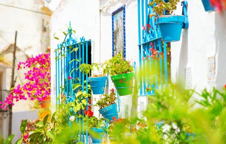 Spanje, Torremolinos. Costa del Sol, Andalusie. Typische witte dorp