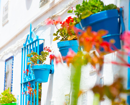 Spain, Torremolinos. Costa del Sol, Andalucia. Typical white village Stock Photo