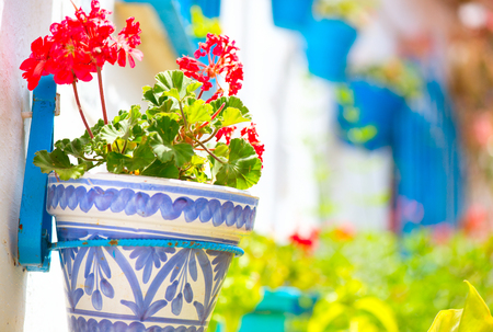 typical: Spain, Torremolinos. Costa del Sol, Andalucia. Typical white village Stock Photo