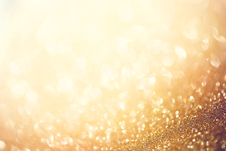 glamour: Golden abstract defocused background with blinking stars
