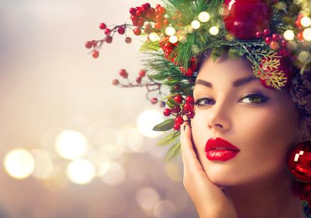 Weihnachtsferien Make-up closeup Standard-Bild