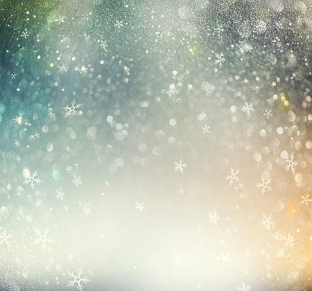 xmass: Christmas glowing holiday abstract defocused background Stock Photo