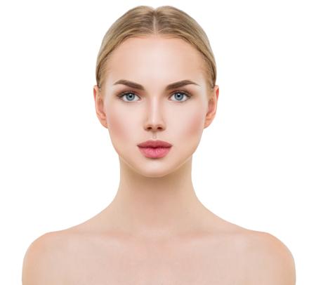 Belle fille de modèle de spa avec la peau propre et fraîche parfaite Banque d'images