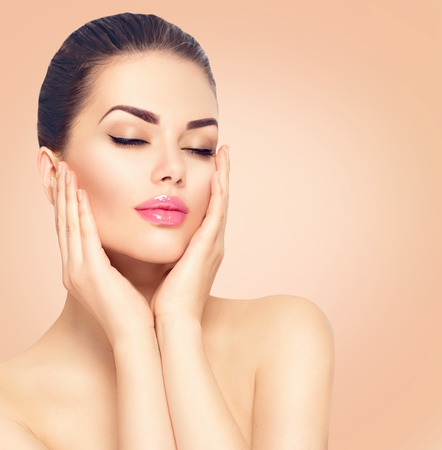 Beauty spa woman with perfect skin