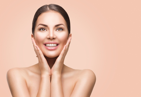 pampering: Beauty spa woman with perfect skin