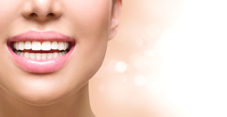 Healthy smile. Tooth whitening. Dental care concept Stock Photo