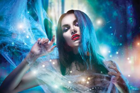 Halloween vampire woman portrait 写真素材