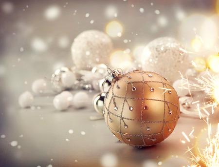 christmas gift: Christmas decoration over blurred bokeh