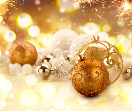 brown: Golden Christmas holiday abstract glitter defocused background