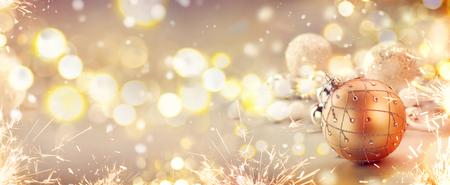 Dorato festa di Natale astratto scintillio sfondo sfocato