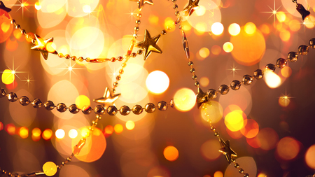 Christmas and New Year glowing holiday background