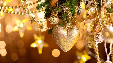 Décoration de Noël et Nouvel An. Abstrait flou bokeh vacances fond Banque d'images - 66831662