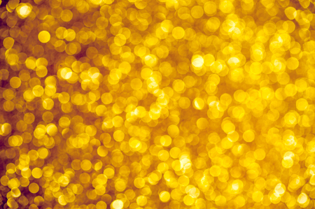happy new year text: Abstract golden holiday glowing background Stock Photo