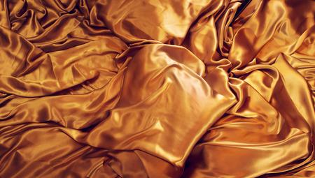 Golden natural silk background