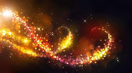 Golden Vánoce a Nový rok na pozadí Reklamní fotografie