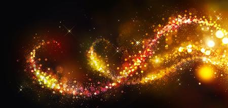 ゴールデン クリスマスと新年の背景
