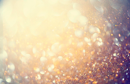 vintage background: Christmas golden holiday glowing background