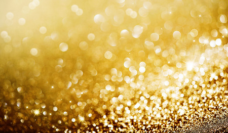 Abstract golden holiday glowing background Stock Photo