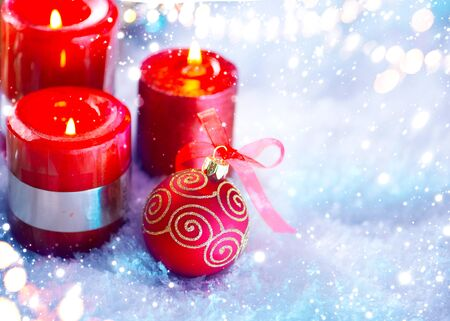 berry: Red Christmas and New Year decoration over white background Stock Photo