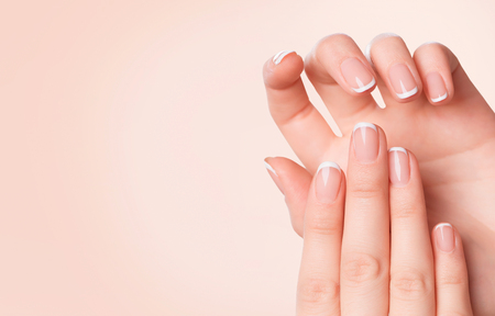 Beautiful woman hands. Spa and manicure concept Stock Photo