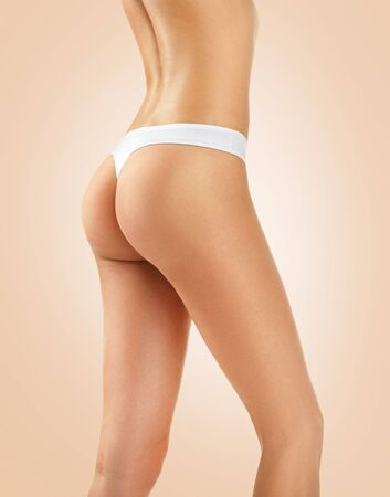 healthy body: Woman with perfect body, buttocks, hips and waistline. Model girl with healthy slim body Stock Photo