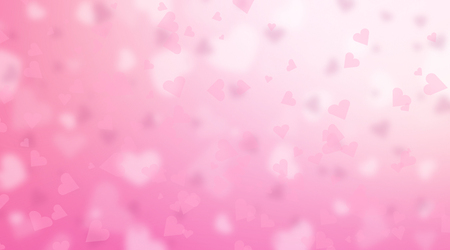 Valentines Day background. Abstract pink hearts holiday backdrop Banque d'images