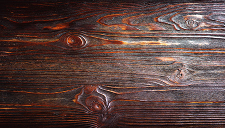 Dark wooden vintage background. Brown aged wood backdrop texture. Wooden wallpaper