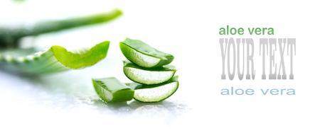 알로에 베라 근접 촬영입니다. 알로에 베라 천연 유기농 리뉴얼 화장품, 대체 의학. 유기농 스킨 케어 개념. 흰색 나무 배경 스톡 콘텐츠 - 96466632