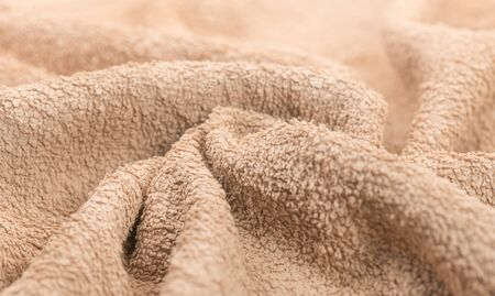 Soft beige color cotton towel