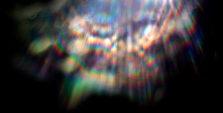 Lens flare effect on black background. Abstract Sun burst, sunflare for screen mode using. Sunflares nature abstract rainbow colourful backdrop, blinking sun burst, lens flare optical rays.
