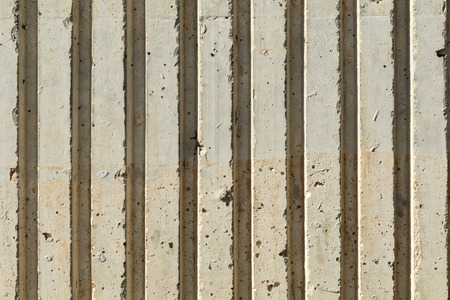 flute structure: close of of concrete bench showing ridges, shot straight on Stock Photo
