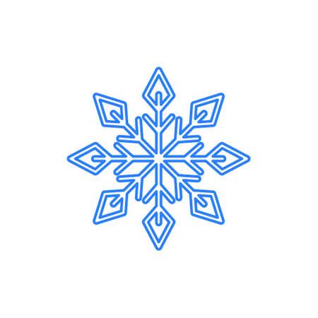 Vector of Snowflake snow flake design template icon illustration Ilustracja