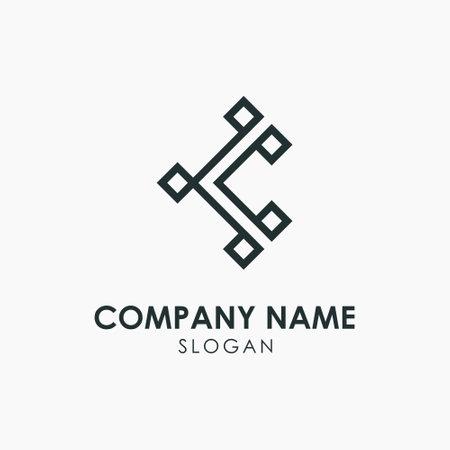 Simple Letter K KK Monogram Vector Template