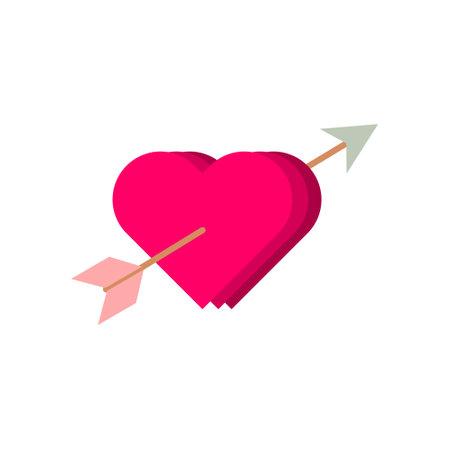 Heart Love Arrow Illustration Vector Template Illustration