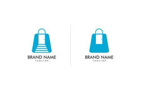 Online Shop Bag Furniture Logo Vector Template suitable for shop that concern on furniture selling or service