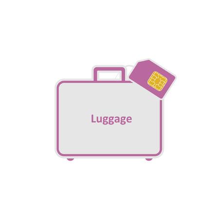 Roaming. Luggage. SIM.