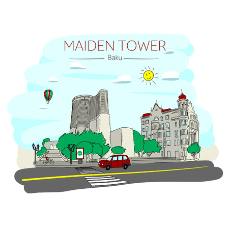 Maiden tower. Baku, Azerbaijan.