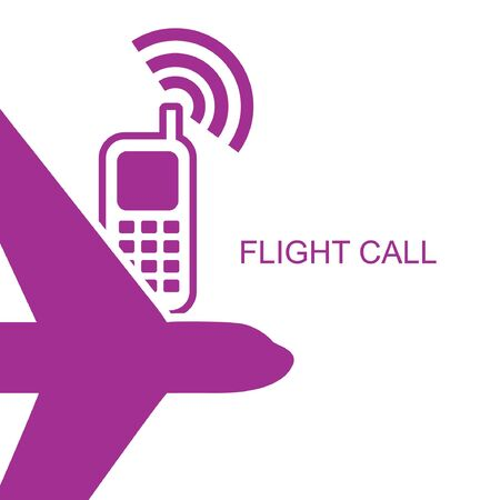 roaming: Flight time call. Illustration