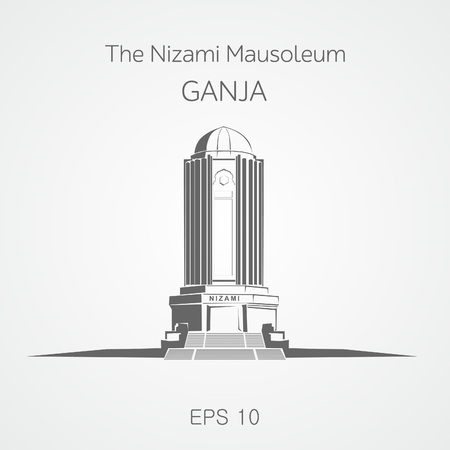 mausoleum: Nizami mausoleum Ganja. Azerbaijan. Illustration