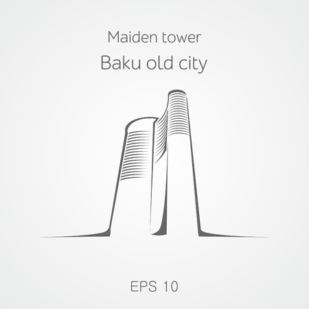 Maiden tower Baku. Azerbaijan.