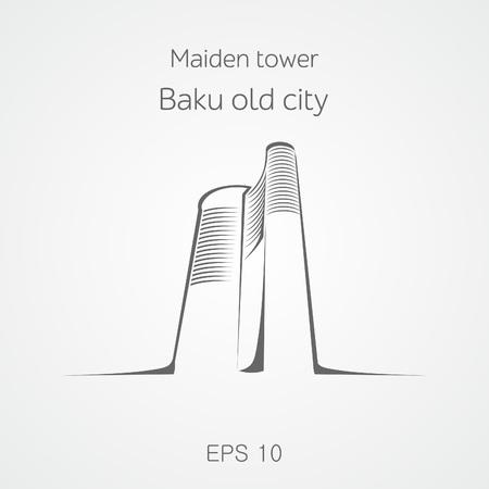 baku: Maiden tower Baku. Azerbaijan.