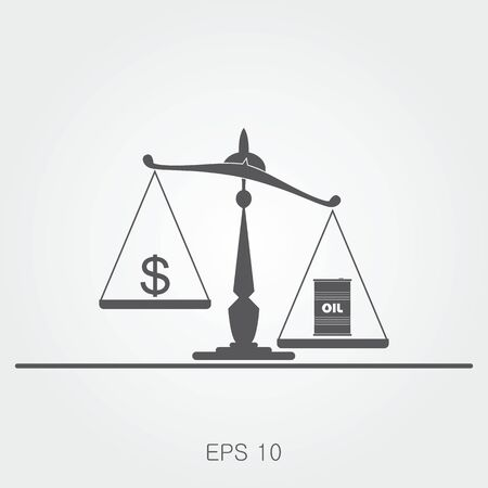 brent: Oil prices flat vector illustration