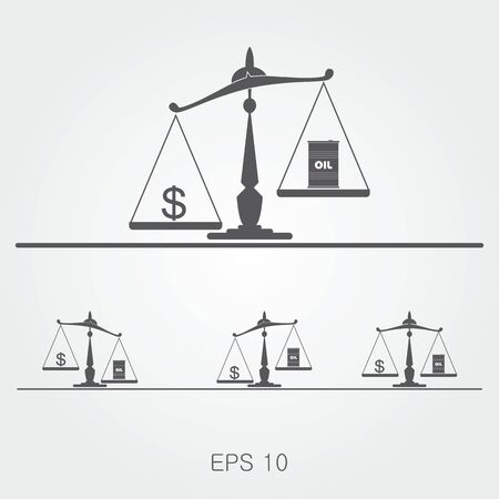 Oil prices flat vector illustration